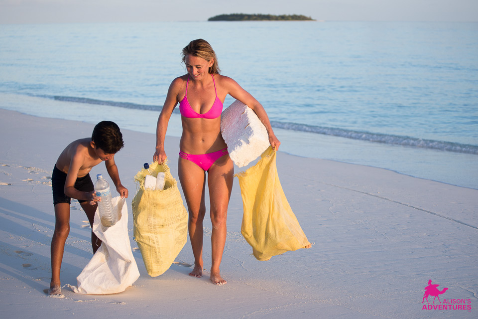 Clean Bodies of Water Photos of the week: Alison Teal Maldives - Beach clean-up