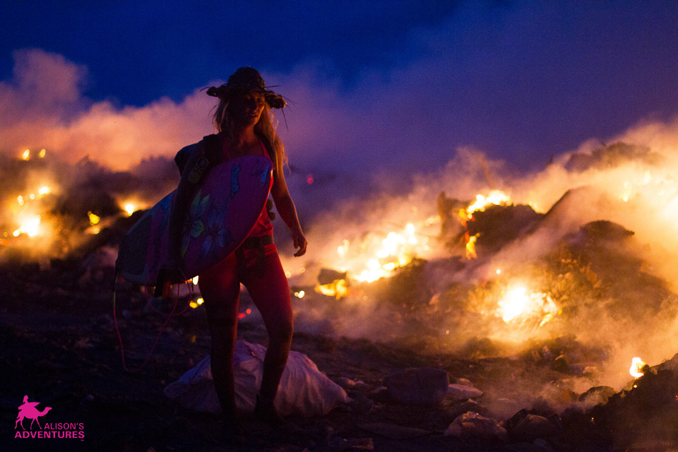 Clean Bodies of Water Photos of the week: Alison Teal Maldives - Burning waste